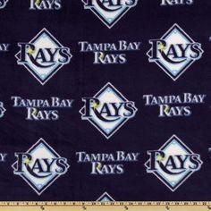 MLB Tampa Bay Rays Custom Blanket - No Sew Fleece Blanket / Machine Sewn Fleece Blanket / Newborn to California King Bedding