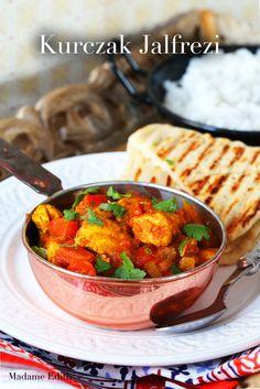 kurczak jalfrezi Chana Masala, Curry, Good Food, Dinner, Ethnic Recipes, Kitchen, Gastronomia, Dining, Curries