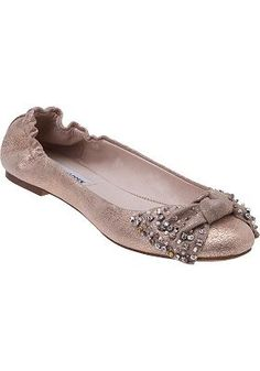 rose gold flats...would be fitting