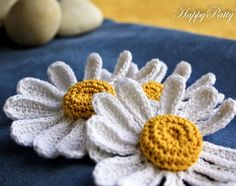 Crochet Pattern Daisy Flower