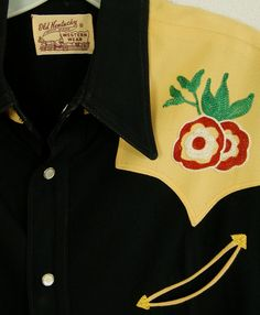 50s M Western  Embroidered  Shirt  1940s  1950s  by HicUpLounge, $375.00