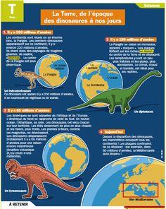 Fiche exposés : La Terre, de l'époque des dinosaures à nos jours