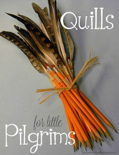 Cute ideas to use during your Colonial America unit. Simply attach feathers to pencils with masking tape.