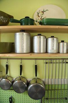 Hook hook hook  Mari & Adam's Colorful Craftsman Kitchen Kitchen Tour | The Kitchn