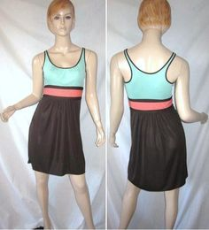 MILLY New York Stretch Draped Colorblock Shift Dress S...see more details at this link - http://stores.shop.ebay.com/vintagefluxed