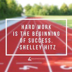Agree? Hard work is the beginning of success.   #quote # HitzBlitz