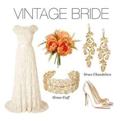 The Grace collection beautifully captures the lace detailing of this vintage-style wedding gown #stelladotstyle