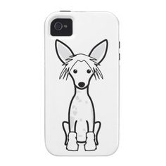 Chinese Crested Dog Cartoon iPhone 4/4S Cover