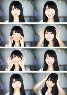 Pretty Asian Girl, Asian Cute, Cute Asian Girls, Beautiful Asian Women, Cute Girls, Japanese Beauty, Japanese Girl, Face Expressions, Girl Short Hair