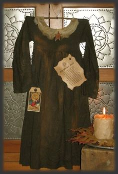 Free Primitive Craft Patterns   PatternMart.com ::. PatternMart: Primitive Witch Dress