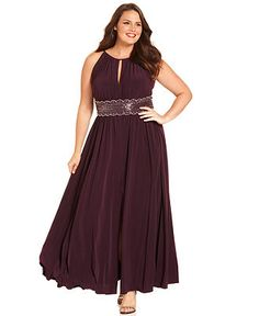 R Richards Plus Size Dress, Sleeveless Beaded Evening Gown - Plus Size Dresses - Plus Sizes - Macy's