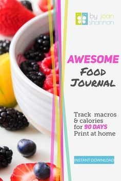 Track macros & calories for 90 days.  Keep motivated to loose weight.  This journal has everything you need to get healthy!  This link lead to the blog post where I give more information about it & has a link to the my shop when you're ready to make the changes.