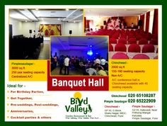 Celebrate in style at AC banquet halls in Pimple Saudagar that are fit for all occasions supported with expert event professional.