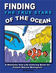 Finding Dory Inspired Coloring Book Includes Factual Information And Realistic Illustrations Of The True Stars