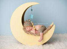 Mond Prop Mond-Foto-Prop Holz-Mond Original von MrAndMrsAndCo