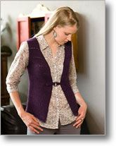 This easy Tunisian crochet vest is worked in one piece for minimal seaming.