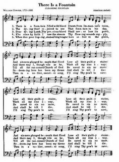 """Traditional Christian Hymns - the history of """"There Is A Fountain"""""""