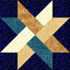 Image result for Weave Star Quilt Block Pattern