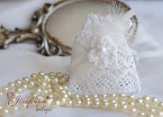 Lace romantic bags,vintage,special present, table decoration, Wedding Favour Bags,thanks for visitors,bag,Handmade Wedding Favour Bags