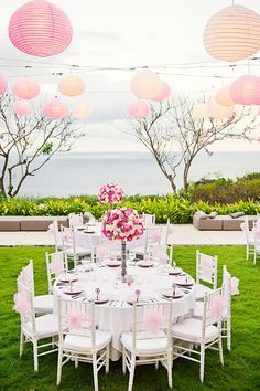 Stunning pink and ivory reception decor for Bali wedding at Alila Villas Uluwatu, photo by Marcus Bell of Studio Outdoor Wedding Reception, Wedding Reception Decorations, Wedding Centerpieces, Wedding Table, High Tea Wedding, Bali Wedding, Destination Wedding, Wedding Colors, Wedding Styles