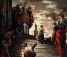 Madonna dell'Orto   Jacopo Tintoretto Presentation at the temple of the Virgin (1552-1553) (фрагмент)
