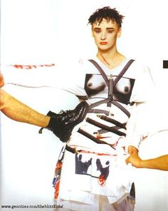 Boy George modeling for Boy London
