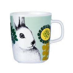 Puput Piilosilla mug, Mix. Mug for coffee or tea. Available at Royaldesign.com #marimekko #royaldesign #mug #easterrabbit #easter #spring