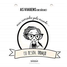 As Viagens de Sussie - Ilustrações por Etérea Design;