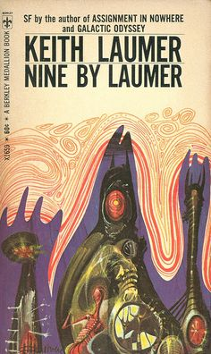 Nine by Laumer, Keith Laumer (1969 edition), cover by Richard Powers