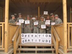 """We can never """"out thank"""" the troops!"""