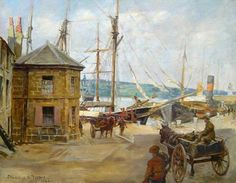 Penzance Harbour Office by Stanhope Alexander Forbes (1922)