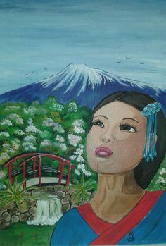 In Yokohama/Acrylmalerei