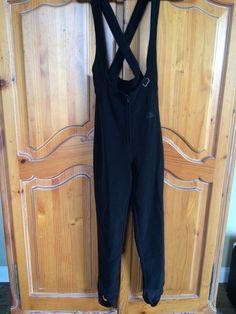 Nils Skiwear By Schoeller Women's Sz 8 Black Stretch Bib Ski Suit Snow MSRP $235 #Nils