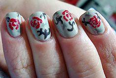 Chinese cherry blossom nails!