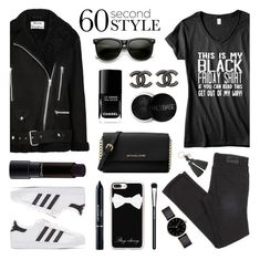 """60 Second Style - Happy Black Friday!"" by lgb321 on Polyvore featuring Acne Studios, ZeroUV, Michael Kors, Chanel, Casetify, MAC Cosmetics, Christian Dior, adidas Originals, Kate Spade and Myku"