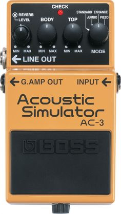 Boss • AC3 Acoustic Guitar Simulator Pedal. Really want this