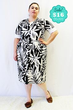 CLEARANCE  Plus Size  Vintage Black & White by TheCurvyElle, $16.00
