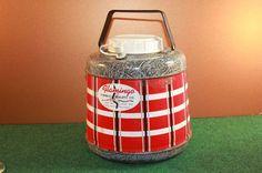 Vintage Flamingo Fiberglas Insulated Jug Keeps Hot/Cold Metal Thermos   eBay