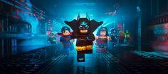 Green Lantern, The Flash, Superman, Batman, Wonder Woman, Cyborg, Aquaman and Green Arrow in The LEGO® Batman Movie.