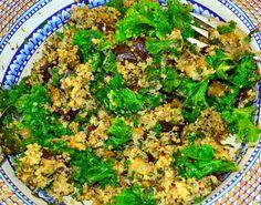 Eggplant, Kale, Quinoa and Pesto