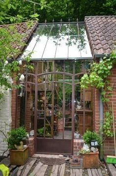 How to make the small greenhouse? There are some tempting seven basic steps to make the small greenhouse to beautify your garden. Build A Greenhouse, Greenhouse Gardening, Greenhouse Ideas, Greenhouse Wedding, Cheap Greenhouse, Greenhouse Attached To House, Porch Greenhouse, Greenhouse Gases, Outdoor Spaces