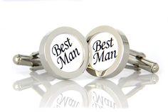 """Manschettenknöpfe """"Best Man"""" von 4GUYS auf DaWanda.com"""