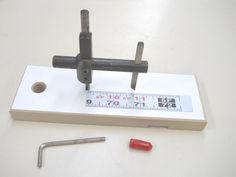 Drill Press Circle Cutter Gauge / Jauge pour coupe cercle de perceuse à colonne