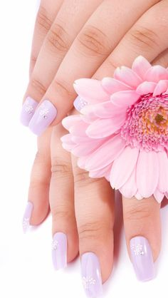 Pretty nails flower awesome
