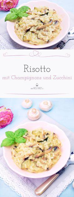 Ein Risotto mit Champignons macht kaum viel Arbeit und schmeckt  unheimlich lecker. Wie ich mein Risotto mache, verrate ich dir hier! #Risotto #Vegetarisch