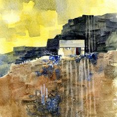 Image result for abstract landscape paintings in watercolor