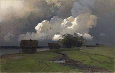 Isaac Levitan (Russia 1860-1900) - Work through 1892 In the Vicinity of the Savvino-Storozhevsky Monastery (1880s)