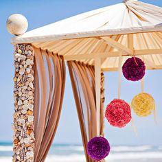 beach color wedding purple   colorful-beach-wedding-north-carolina-colorful-beach-wedding-ceremony ...