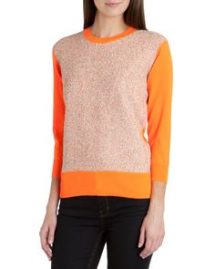 Textured front sweater - Orange | Knitwear | Ted Baker UK