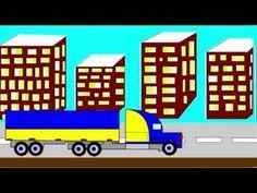 Мультик про грузовик, учим цвета, машины для детей.